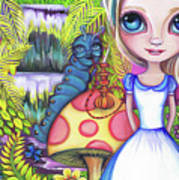 Alice And Absolem Art Print