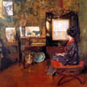 Alice In Studio In Shinnecock Art Print