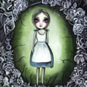 Alice In The Deadly Garden Art Print