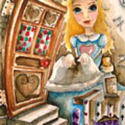 Alice In Wonderland 2 Art Print by Lucia Stewart