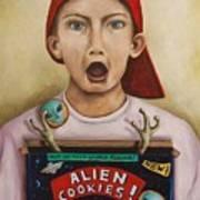 Alien Cookies Art Print