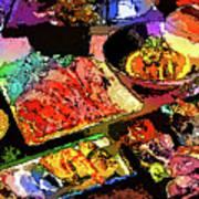 Alien Food Delicacies Art Print