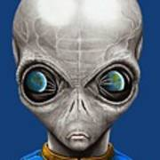 Alien From Space Art Print