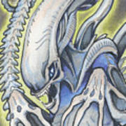 Alien Movie Creature Art Print