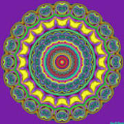 Alien Prayer Circle Art Print