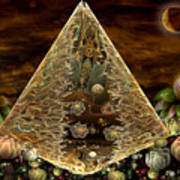 Alien Pyramid Art Print by Peggi Wolfe