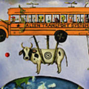 Alien Transport System Art Print
