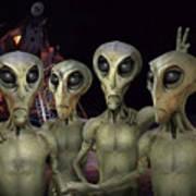 Alien Vacation - Kennedy Space Center Art Print