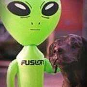 Alien's Best Friend Art Print