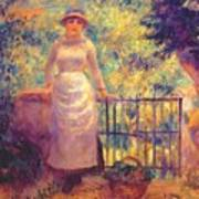 Aline At The Gate Girl In The Garden 1884 Art Print