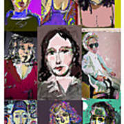 All About Faces 6 Art Print