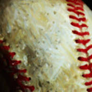 All American Pastime - Baseball - Vertical Cut - Painterly Art Print