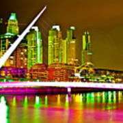 All Night Puerto Madero Art Print