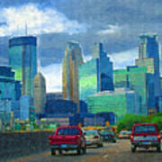 All Roads Lead To Minneapolis Art Print
