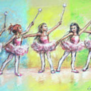 All Together Now...first Ballet Recital Art Print