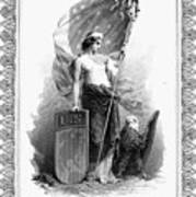 Allegory: Columbia, C1870 Art Print
