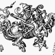 Allegory Of Saturn, 1480 Art Print
