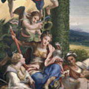 Allegory Of The Virtues Art Print