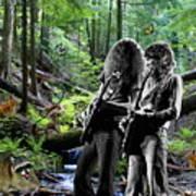 Allen And Steve Jam With Friends On Mt. Spokane Art Print