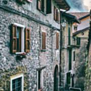 Alley In An Alpine Village #1 Art Print
