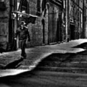 Alley Stroll Art Print