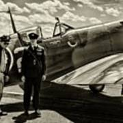 Allied Pilots Taking Stock Art Print