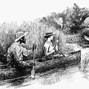 Alligator Hunt, 1888 Art Print