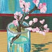 Almond Blossoms In A Glass Art Print