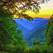Almost Heaven - West Virginia 3 - Paint Art Print