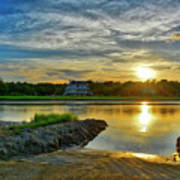 Almost Sunset In Pawleys Island Art Print