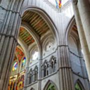 Almudena Cathedral Interior In Madrid Art Print