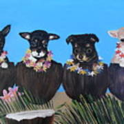 Aloha Teacup Chihuahuas Art Print