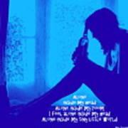 Alone In Blue Art Print