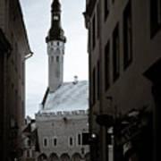 Alone In Tallinn Print by Dave Bowman