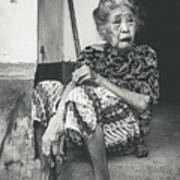 Balinese Old Woman Art Print