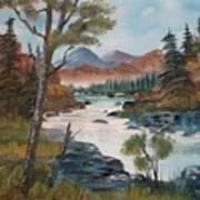 Along Canyon Drive Paradise Montana Art Print