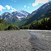 Along Eagle River- Eagle River, Alaska Art Print