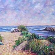 Along The Breachway Rhode Island Art Print