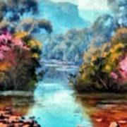 Along The Creek Art Print