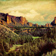 Along The Crooked River Art Print