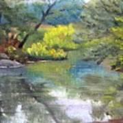 Along the Exeter River Art Print