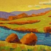 Along The River In Steamboat Springs II Art Print