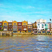 Along The River Thames Art Print