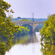 Along The Schuylkill River In Manayunk Art Print by Bill Cannon