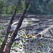 Along The White River Art Print