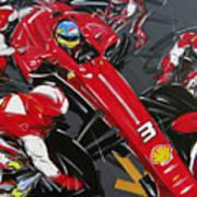 Alonso Ferrari 3 Art Print