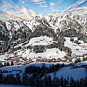 Alpbach Winter Landscape Art Print
