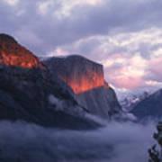 Alpen Glow On El Capitan Art Print