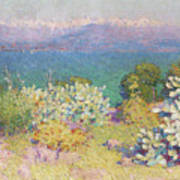 Alpes Maritimes From Antibes Art Print