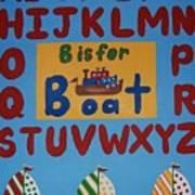 Alphabet Boat Art Print